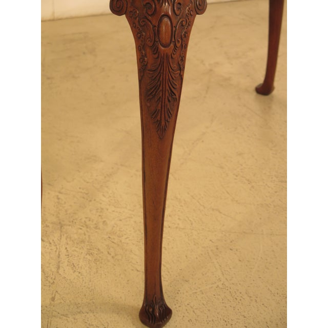 Wellington Hall Georgian Style Carved Mahogany Console Table - Image 3 of 11