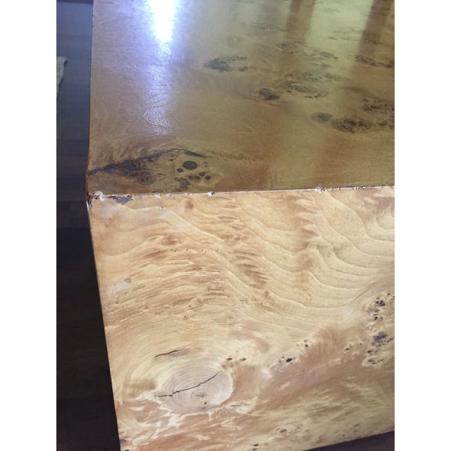 Burl Cube Coffee Table - Image 4 of 9