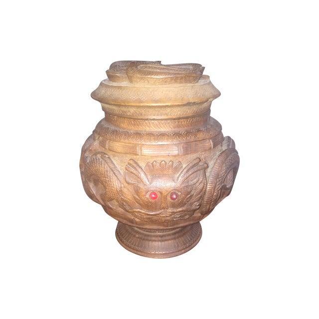 Antique carved dragon box chairish