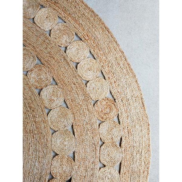 Hand Made Round Hemp Rug - 5' x 5' - Image 2 of 4