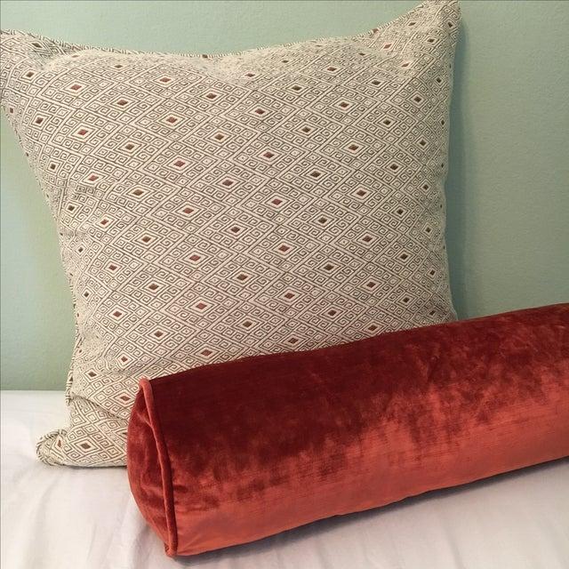 Custom Designer Bolster Pillow - Image 4 of 4