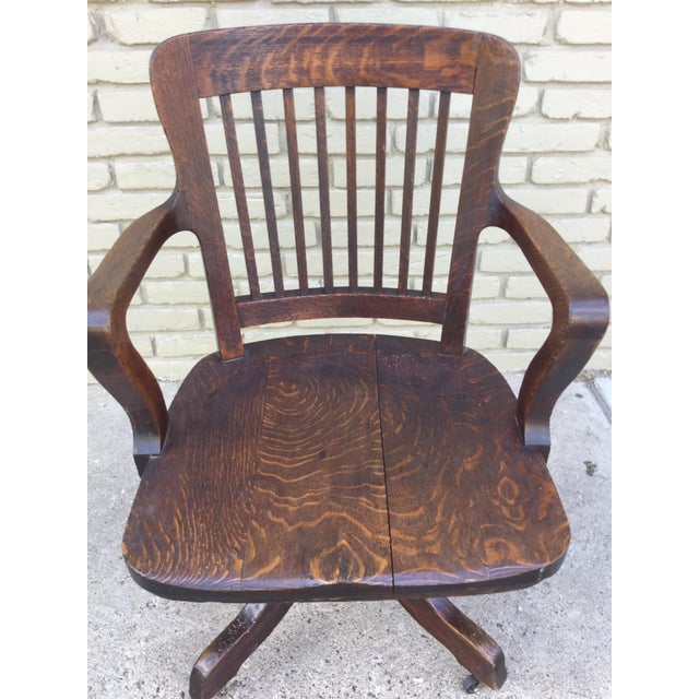 Milwaukee Chair Company Oak Office Chair For Sale - Image 7 of 7