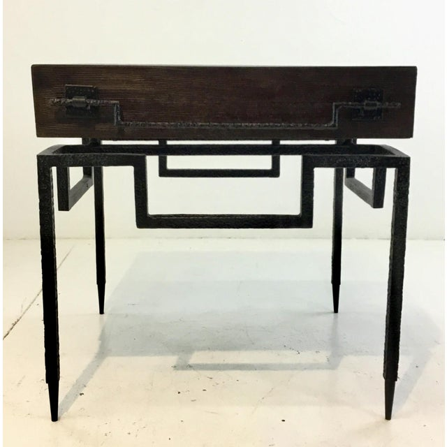 Global Views Industrial Modern Scratch End Table For Sale In Atlanta - Image 6 of 6