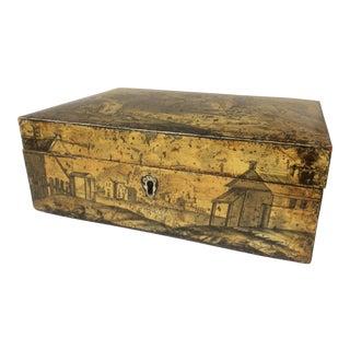 18th C. Penwork Decorated Box