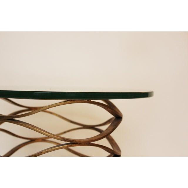 Modern Modern Gold Leaf Bracelet Tables - A Pair For Sale - Image 3 of 7