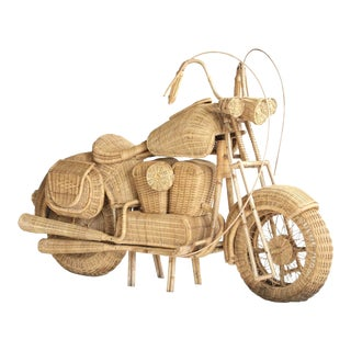 Tom Dixon Rattan Motorcycle Sculpture For Sale