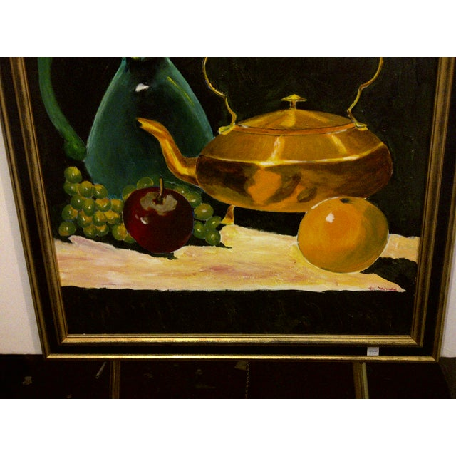 """Vintage """"Tea Kettle"""" Painting by John Micheal For Sale - Image 4 of 9"""