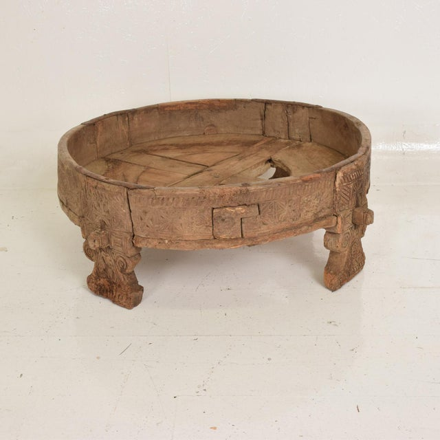 Asian Antique Wood Planter Base for Outdoor Patio, Rice Water Table For Sale - Image 3 of 8
