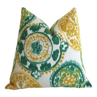 Sunbrella Suzani Outdoor Pillow Cover 20x20 For Sale
