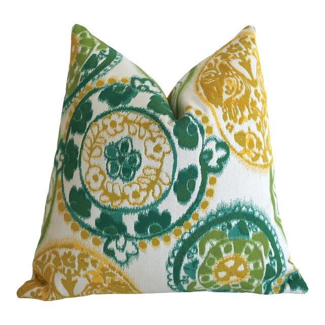 Sunbrella Suzani Outdoor Pillow Cover 20x20 For Sale