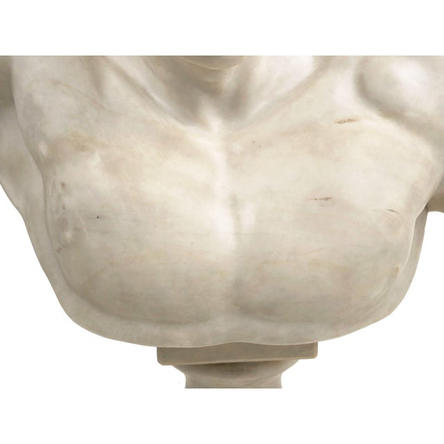 Classical Marble Bust of Hermes Holding Dionysus After the Antique by Praxiteles For Sale - Image 6 of 13