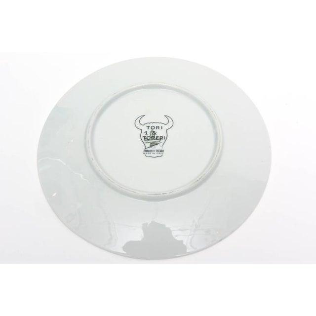 Vintage Italian Piero Fornasetti Porcelain Bullfight Dinner Plates - Set of 6 For Sale - Image 9 of 11
