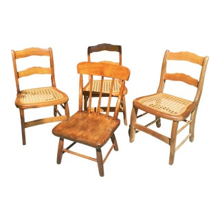 19th Century Children's Chairs - Set of 4 For Sale