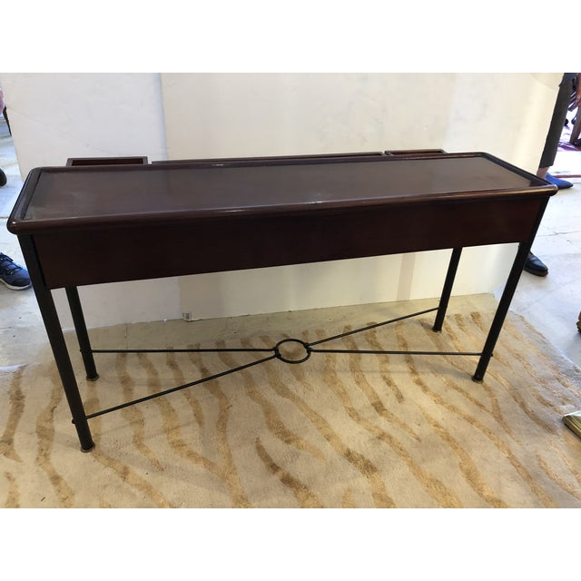 Mahogany Console Sofa Table by Grange For Sale - Image 12 of 13