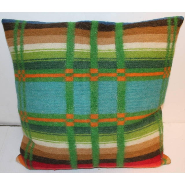 Pair of Vibrant 19th Century Horse Blanket Pillows For Sale - Image 4 of 5