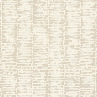 Sample - Schumacher Variations Wallpaper in Oyster For Sale