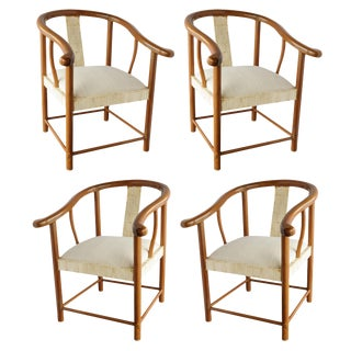 Vintage Rundolph Collection Horse Shoe Chairs - Set of 4 For Sale
