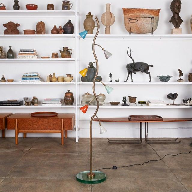 Italian Freeform Tulip Shade Floor Lamp For Sale - Image 11 of 11