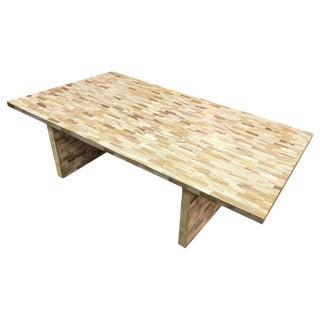 Jimeco ltda Vintage Tessellated Bone Coffee Table