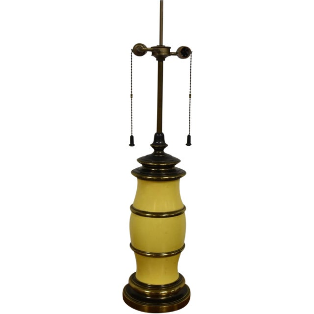 Stiffel Yellow Table Lamp - Image 1 of 8