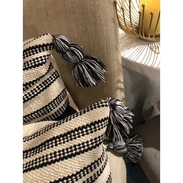 Everyone is loving the farmhouse style this year. These heavy textured pillows give a graphic statement to any room. Comes...