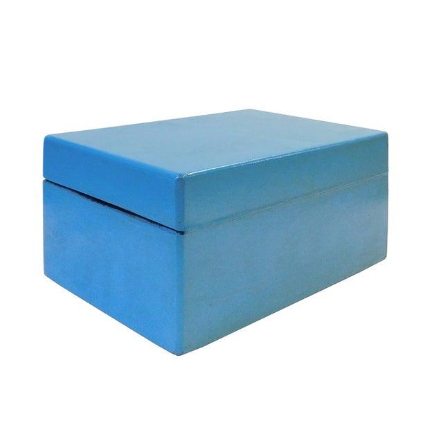 Light Blue Rectangular Container Box - Image 5 of 5