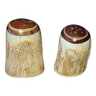 Handmade Elk Horn Salt & Pepper Shakers - A Pair