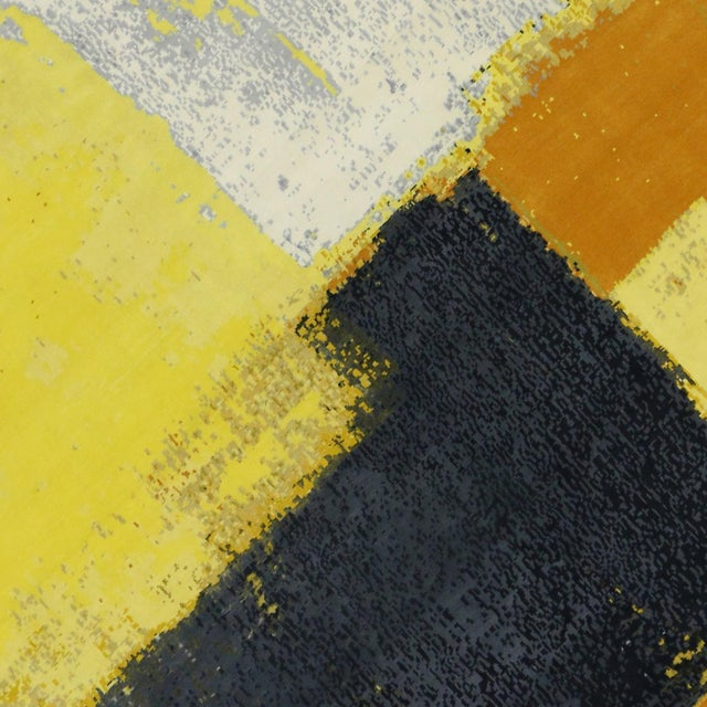 """Modern Style Contemporary Abstract Color Block Rug - 9' x 12'1"""" For Sale In Dallas - Image 6 of 8"""