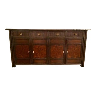 Currey & Co. Transitional Spanish Inspired Wood Aragon Credenza For Sale
