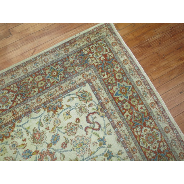 Shabby Chic Shabby Chic Ivory Antique Rug, 8'5'' X 11'5'' For Sale - Image 3 of 8