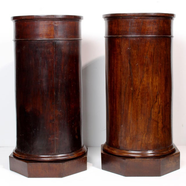 Mid 19th Century 19th C. Italian Column Pedestal Cabinets - a Pair For Sale - Image 5 of 12