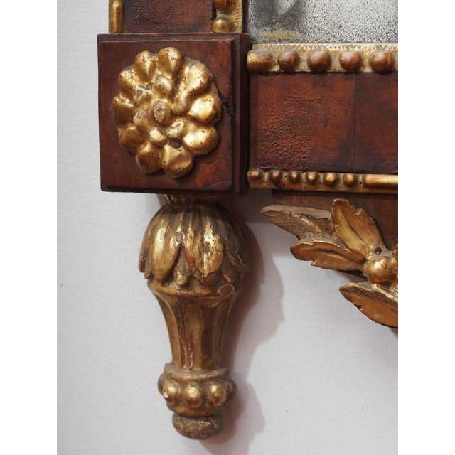 Wood 18th Century Neoclassical Mirror For Sale - Image 7 of 10