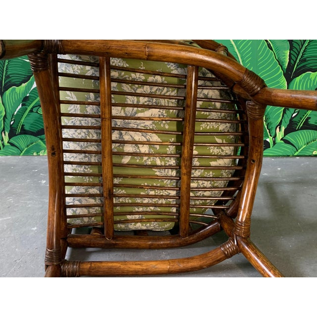 Pair of Bamboo Club Chairs in the Style of McGuire For Sale - Image 10 of 12