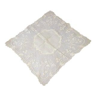 Antique Victorian Wedding Handkerchief