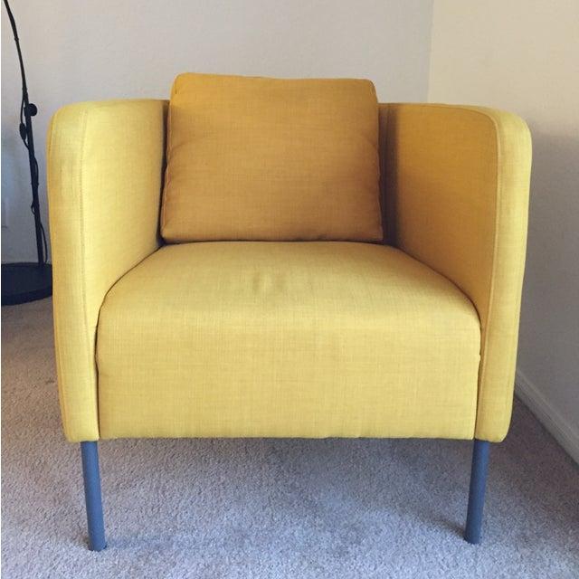 Modern Yellow Chairs - Pair - Image 2 of 3