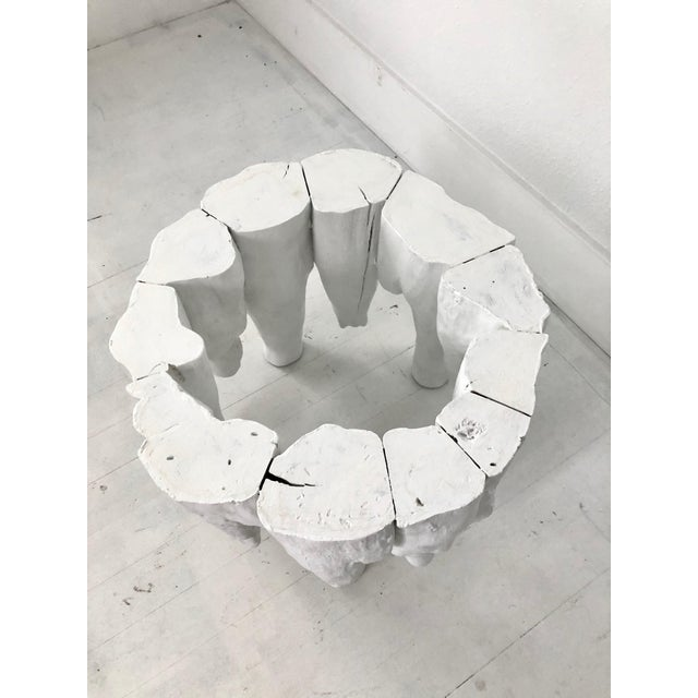Bruailist White Cypress Root Sculpted Side Table For Sale - Image 4 of 8