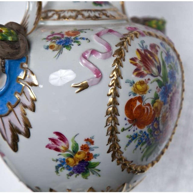 Porcelain Meissen Style Urn Form Lamps - Pair For Sale In New York - Image 6 of 9