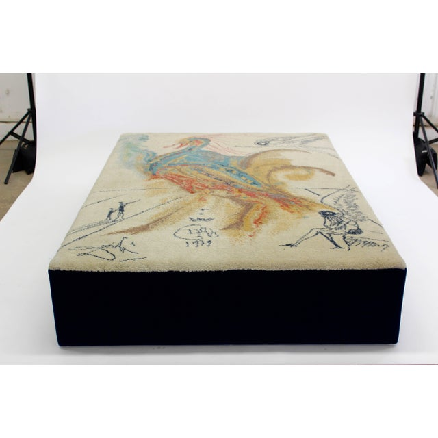"""Artist Salvador Dali's """"Le Grand Pavon"""" was turned into a rug by Danish maker Ege Axminster in 1979. Here, it is made into..."""