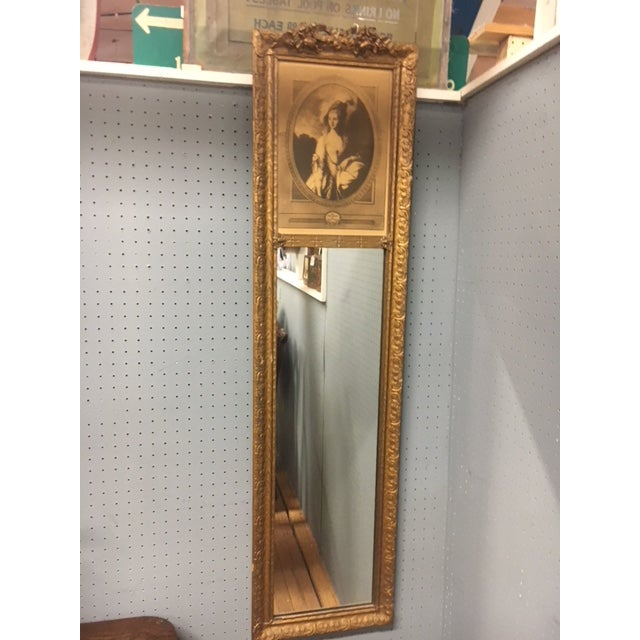 Paint Antique Wall Trumeau Mirror For Sale - Image 7 of 13