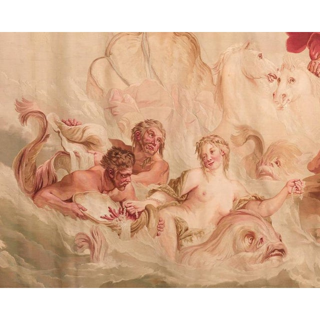 Rococo Aubusson French Wall Tapestry For Sale - Image 3 of 5