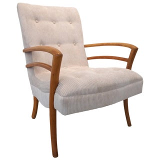 American Sabre Leg Armchair For Sale
