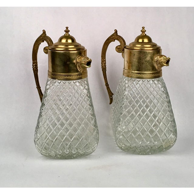 Brass & Crystal Pitcher - Image 3 of 5