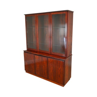 Danish Modern Rosewood Buffet Base China Cabinet For Sale
