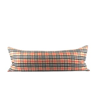 Nova Check Classic Plaid Lumbar Pillow For Sale