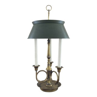 Frederick Cooper French Tole Horn Bouilotte Lamp For Sale