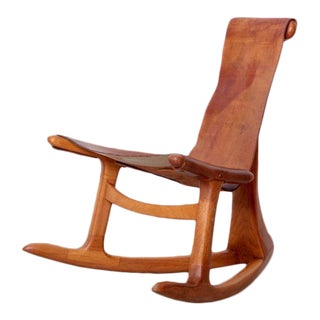 Lawrence Hunter Studio Rocking Chair, USA, circa 1965 For Sale