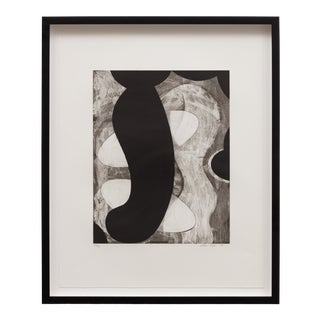 """1990 """"Untitled #4"""" Abstract Etching by David Lloyd, Framed For Sale"""