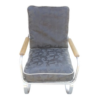 Kem Weber for Lloyd Springer Atomic Stiched Pattern Rocking Chair