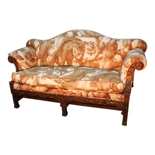 1990's Chippendale Style Settee For Sale