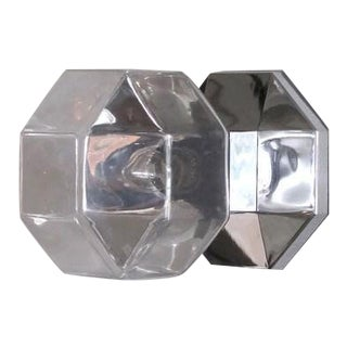 Motoko Ishii for Staff Leuchten Modulare Chrome and Glass Light For Sale